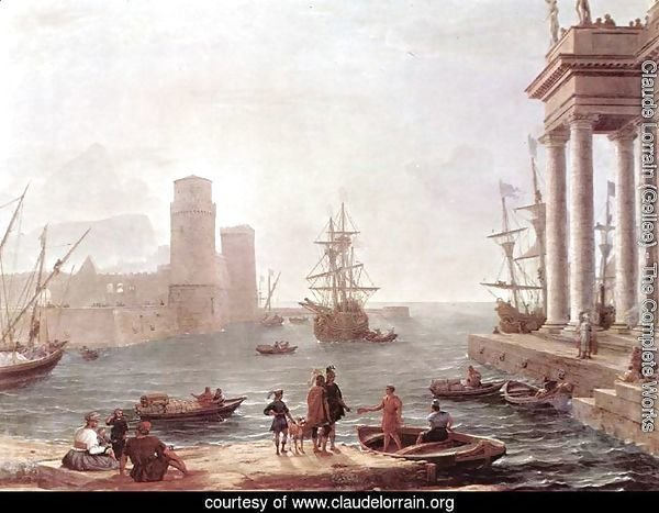 Port Scene with the Departure of Ulysses from the Land of the Feaci 1646