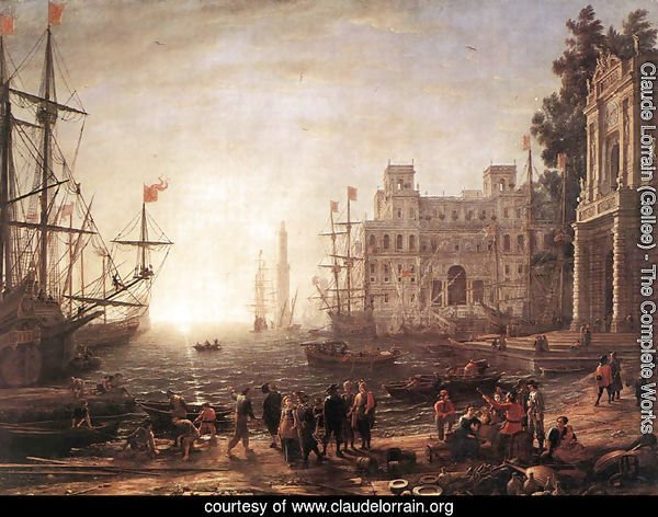 Port Scene with the Villa Medici 1637