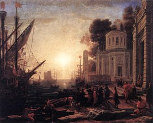 Claude Lorrain (Gellee) - The Disembarkation of Cleopatra at Tarsus 1642-43