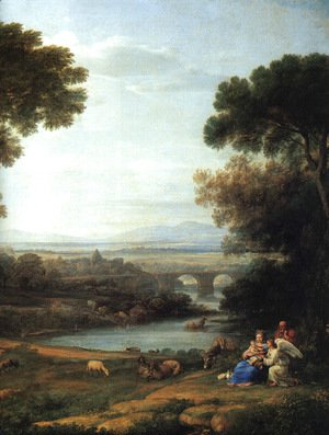Claude Lorrain (Gellee) - The Rest On The Flight Into Egypt   Detail