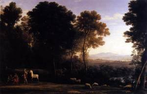 Claude Lorrain (Gellee) - Erminia and the Shepherds 1666