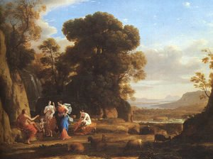 Claude Lorrain (Gellee) - The Judgement of Paris  1645-46