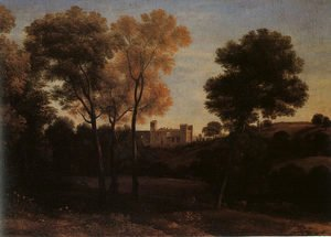 Claude Lorrain (Gellee) - View of La Crescenza  1648-50