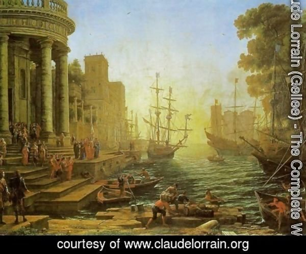 Claude Lorrain (Gellee) - Embarkation of St. Ursula